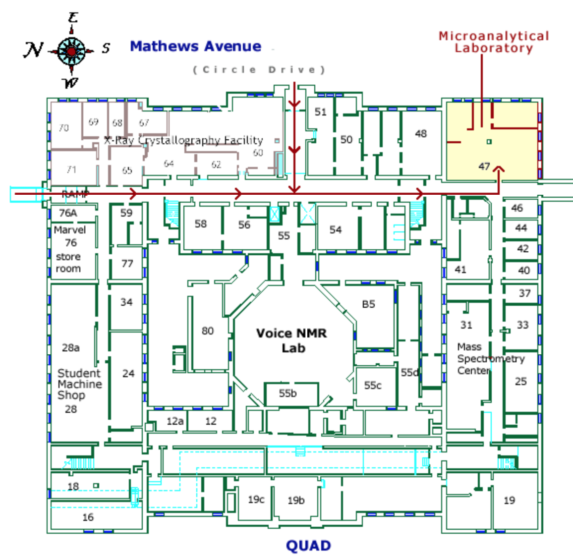 Location Map of the Microanalysis Lab in the Bat of ... on
