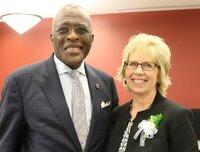 Chancellor Robert Jones and Cheryl Kappes