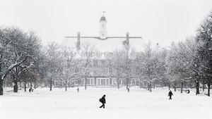 winter on main quad picture