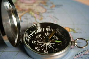 picture of a compass on a map