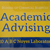 Academic Advising sign